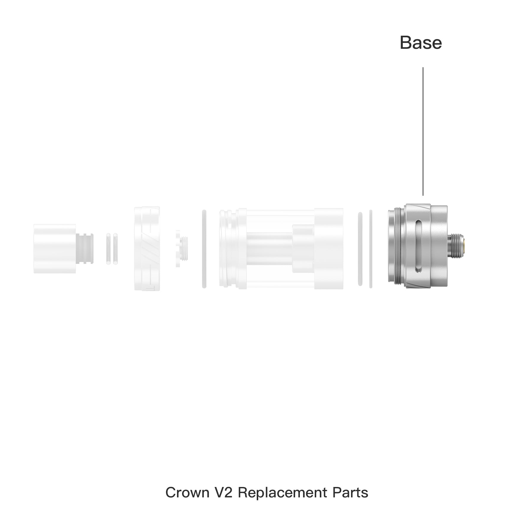 Crown ll Replacement Atomizer Base