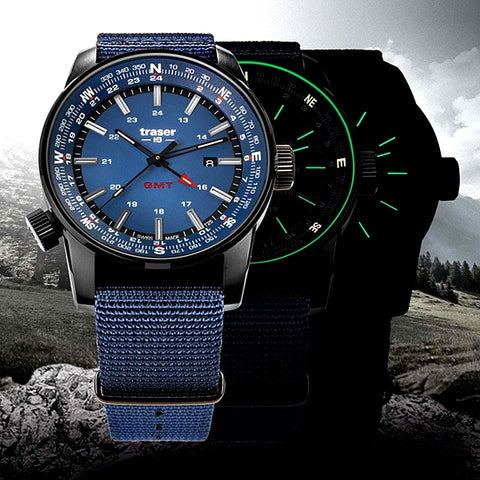 Traser GMT Dual Time ZULU Time Watch, 109034