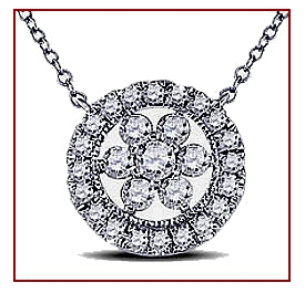 Matching Encircled Diamond Pendant