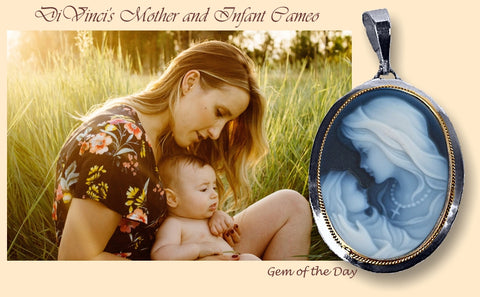 Madonna and Child Cameo Pendant