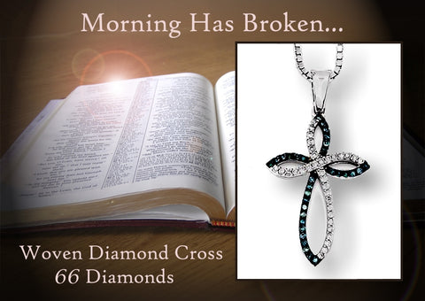 Blue and White Diamond Cross