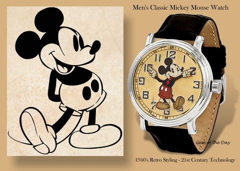 Classic Mickey MOuse Watch with Moving Hands to tell the time XWA4690