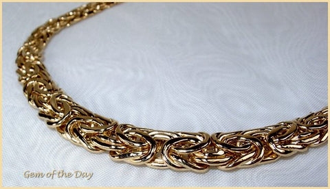 Leslie's 14k Gold Byzantine Necklace, Graduated, 17 inch length