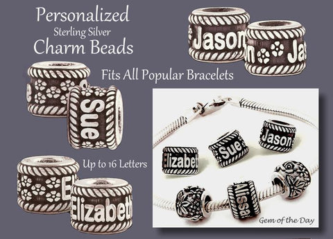Personalize Your Charm Bracelet with Name Beads