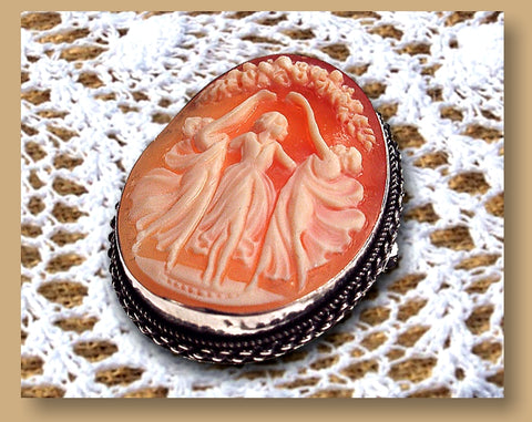 Antique Style Cameo Pin-Pendant