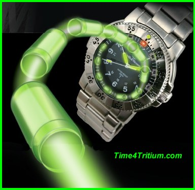 Self Powered Tritium Gas Tubes