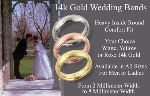 14k Gold Comfort Fit Wedding Bands