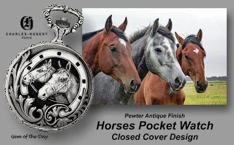 Charles-Hubert Paris Horse Pocket Watch