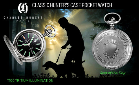 Charles-Hubert Paris T100 Tritium Pocket Watch