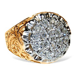 Men's Kentucky Cluster Diamond Ring, 1 carat of Diamonds total weight