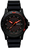 Traser Red Combat P66 Tritium Military Watch, Sapphire Crystal, Rubber Dive Strap, Model 104148