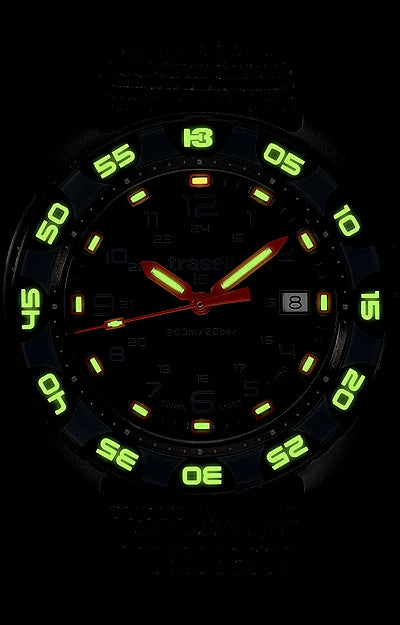 Traser Red Alert T100 Tritium Watch Collection Gem Of