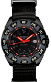 Traser P49 Red Alert T100 Tritium Watches, models 106469 and 106470