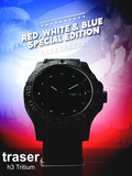 Traser Red, White and Blue Tritium Special Edition Watch