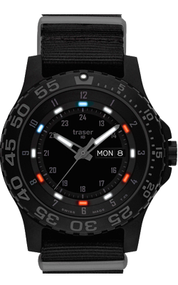 Traser Red, White and Blue Tritium Special Edition Watch, model 107370