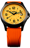 Traser P67 Orange Office Pro GunMetal Watch 107423