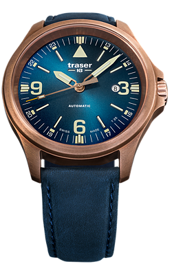 Traser P67 Officer Pro Automatic, Bronze Case and Blue DIal, #108074
