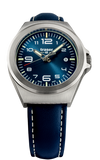 Traser New, Smaller P59 Essential S Tritium Watch, Model 108208 with the Blue Leather Strap