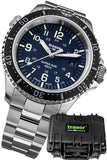 Traser P67 Super-Sub 500 Meter TRITIUM Professional Dive Watch, Blue Dial Special Set 109373