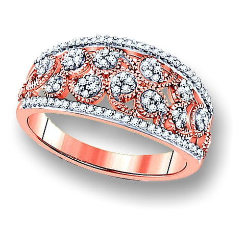 Heirloom Rose Garden Rose Gold Diamond Band