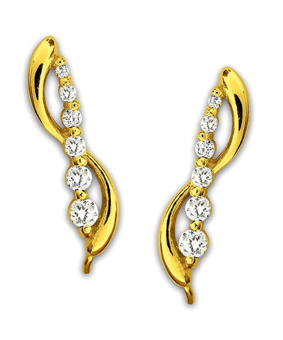 Jose Jay's Journey Diamonds Double Swirl 14k Gold Earrings, 1/2 carat t.w.