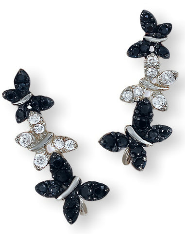 Jose Jay's Sparkling Butterflies Ear Climber Earrings