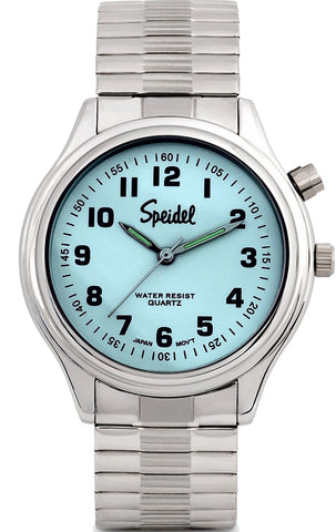 Speidel El Light Watch with Twist-O-Flex Watchband, Push-Button Backlight