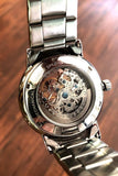 Speidel 21 Jewel Automatic, See-thru Skeleton Design Watch, All Steel, 603340000