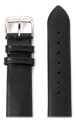 Speidel Thin Dress Calfskin Leather Watchband, Black