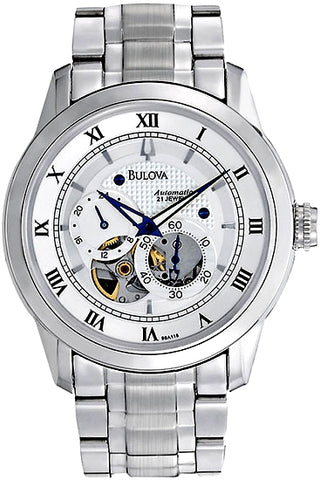 Bulova 21 Jewel Men's Automatic Mini-Complication Watch, 96A118