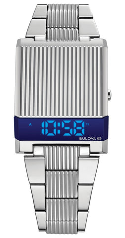Bulova 1976 Re-Edition Computron Blue LED Digital Watch, 96C139, Limited Edition