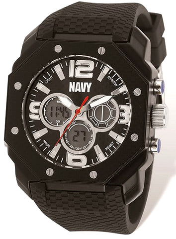 Wrist Armour U.S. NAVY, ZULU Dual Time Digital Analog Chronograph XWA4570