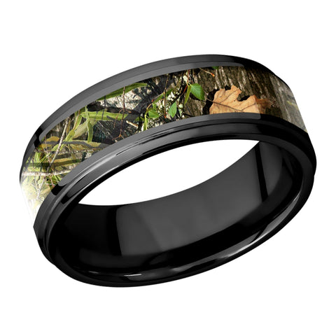 Lashbrook Mossy Oak Obsession Camouflage Zirconium Wedding Band