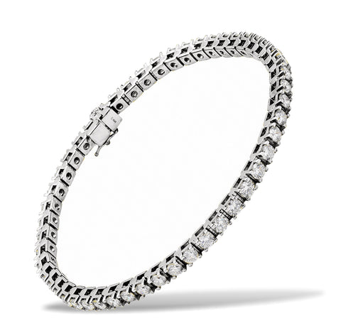 Our Most Beautiful Ladies Diamond Bracelet, 5 carats of Diamonds t.w., 14k White Gold