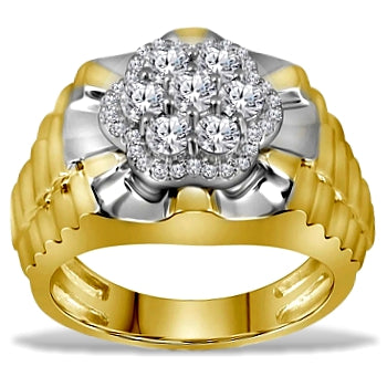 Men's Diamond President's Ring, 1 carat of Diamonds total weight