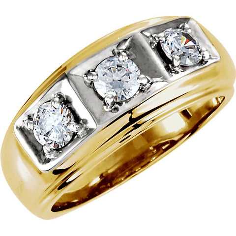Men's Classic 3 Diamond Ring, 1 carat total diamond weight