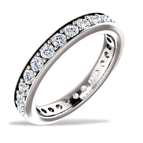 Diamond Eternity Ring, 1 carat tw, 14k White Gold