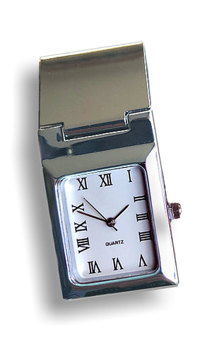 Money Clip Pocket Watch, Hinged and Secure Money Clip, Accurate Quartz Watch