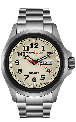Armourlite Field Series, Tritium Officer's Watch with Steel Bracelet, AL815