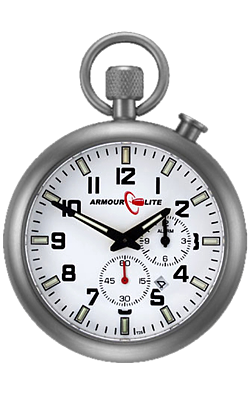 ArmourLite Tritium Illuminated Pocket Watch/Bedside Alarm Clock ALPW01