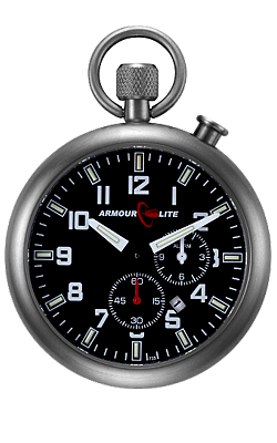 ArmourLite Tritium Illuminated Alarm Pocket Watch/Bedside Clock ALPW02