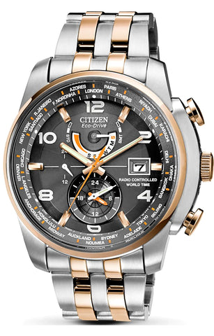 Citizen World Time A-T Eco-Drive Watch, AT9016-56H