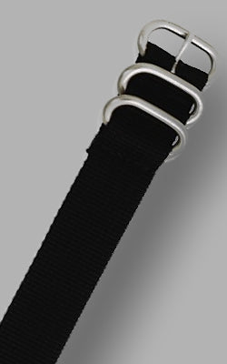 MilSpec Ballistic Nylon Band in Jet Black