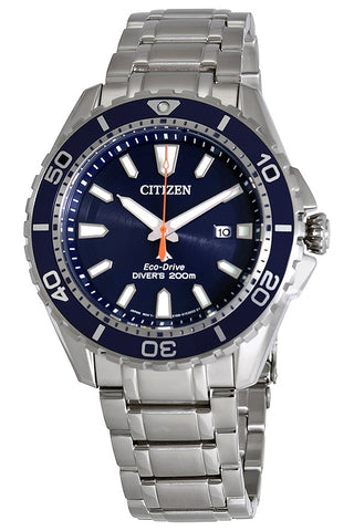 Citizen Promaster Men's Steel Dive Watch, Blue Dial & Bezel, BN0191-55L