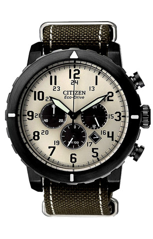 Citizen Military Chronograph, Eco-Drive Technology, CA4095-04H