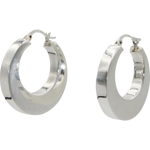 Klaebu Bold Circle Hoop Earrings, Handmade in Sterling Silver