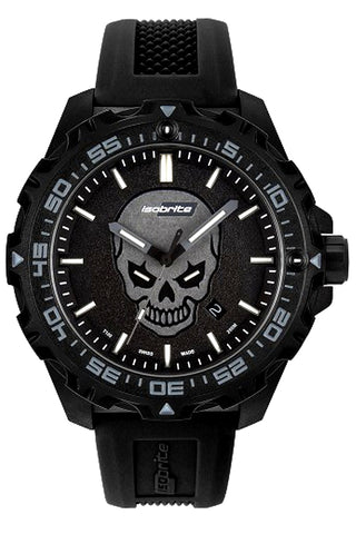 IsoBrite Enforcer II Limited Edition T100 Tritium Illuminated Watch (Glowing Skull) ISO3007