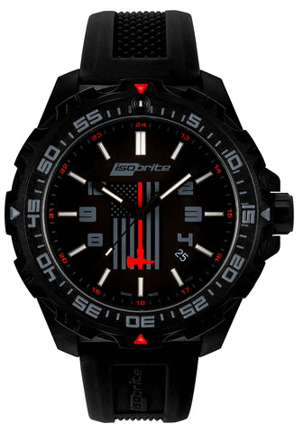 IsoBright Thin Red Line T100 Tritium Limited Edition Watch ISO3009