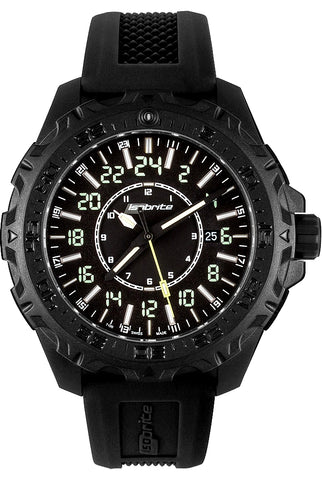 IsoBright MIL24, True 24 Hour Military and Pilot's Watch with T100 Tritium, ISO3010