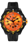 IsoBright Valor T100 Tritium Watch, Orange Tritium, Silacone Band, ISO302